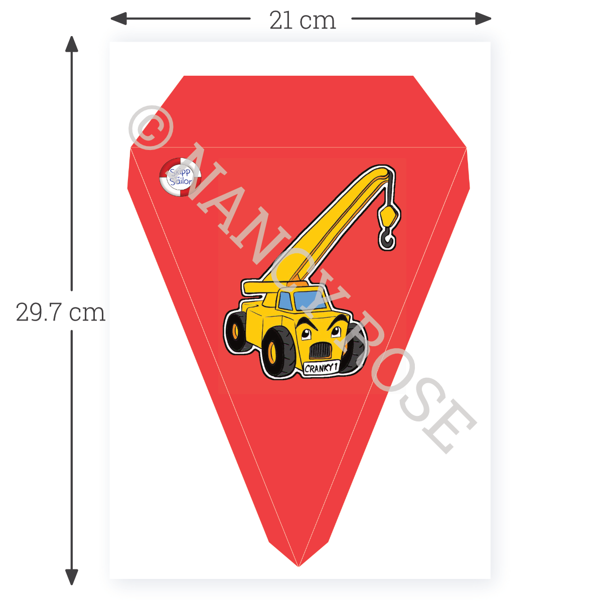 Bunting with scale bar photo
