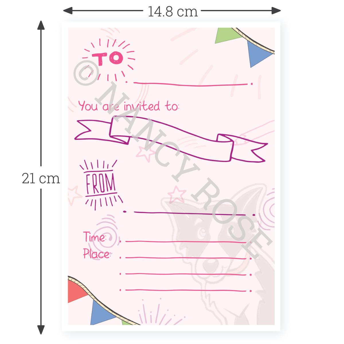 Printable invitation to scale skipp the sailor
